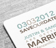 Wedding Save the date, invitation & decor